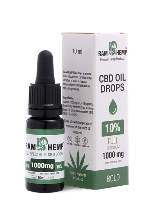 RAMHEMP Full Spektrum 10 % CBD olaj 10 ml