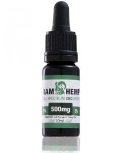 RAMHEMP Full Spektrum 5 % CBD olaj 10 ml üveg