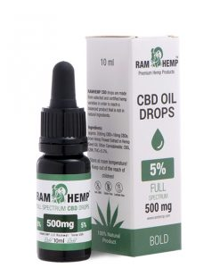 RAMHEMP Full Spektrum 5 % CBD olaj 10 ml