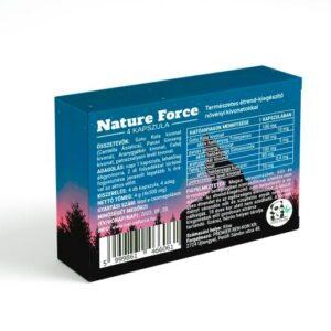 Nature Force 4 kapszulás alkalmi potencianő férfiaknak. hátulja